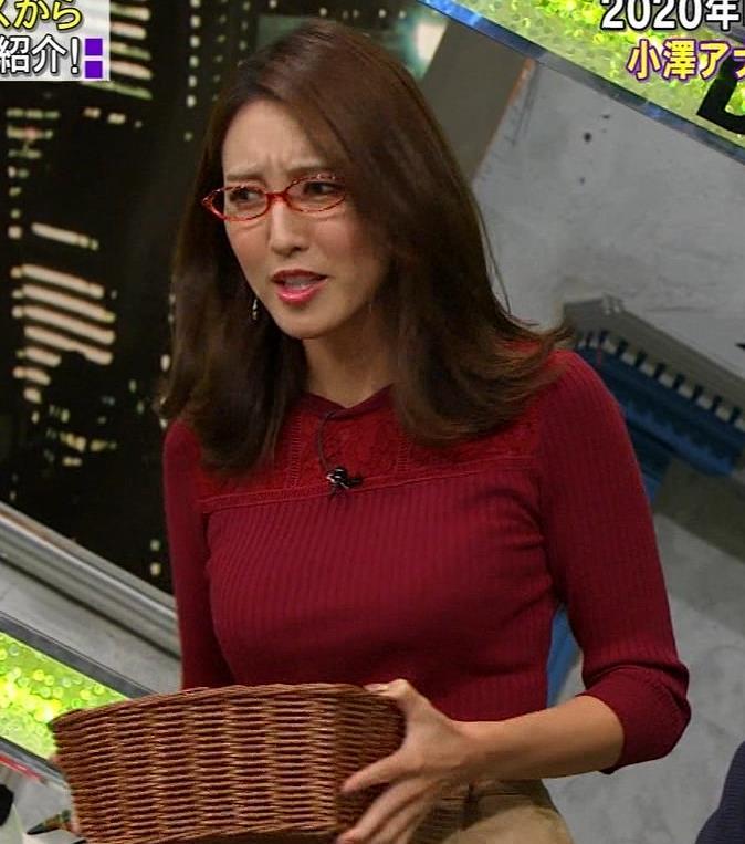 小澤陽子アナ 横乳でデカさを再認識キャプ・エロ画像5