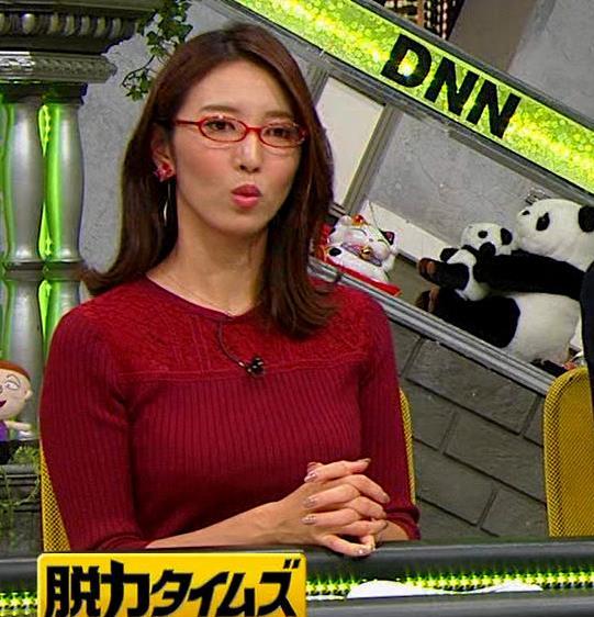 小澤陽子アナ 横乳でデカさを再認識キャプ・エロ画像6