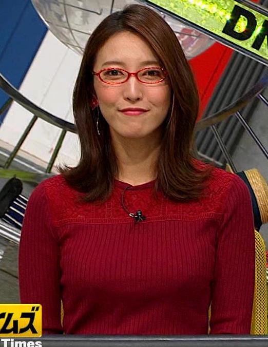 小澤陽子アナ 横乳でデカさを再認識キャプ・エロ画像7