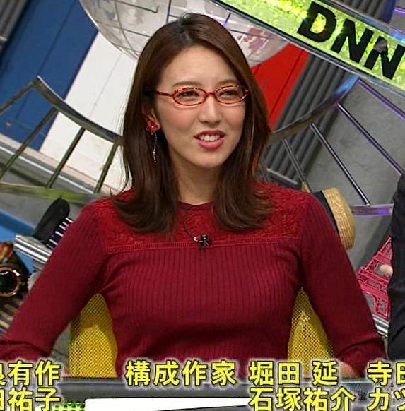 小澤陽子アナ 横乳でデカさを再認識キャプ・エロ画像8