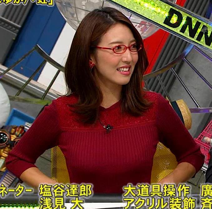 小澤陽子アナ 横乳でデカさを再認識キャプ・エロ画像10