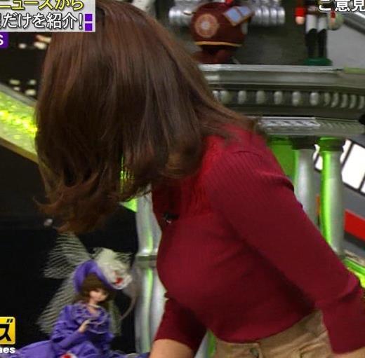 小澤陽子アナ 横乳でデカさを再認識キャプ画像(エロ・アイコラ画像)