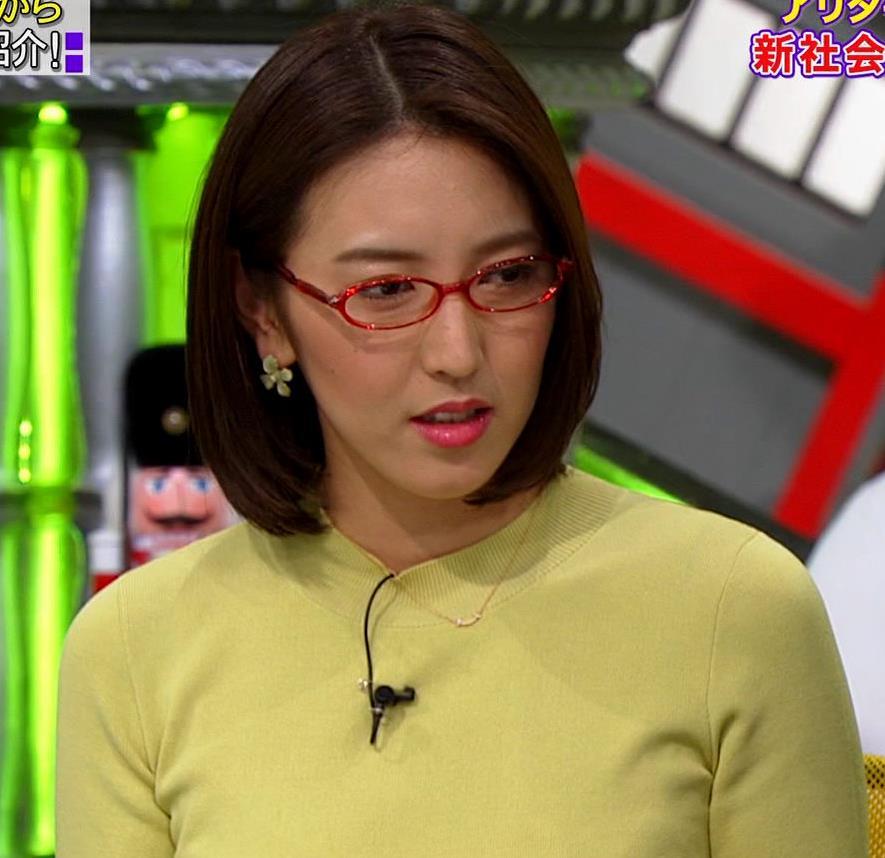 小澤陽子アナ エロい横乳キャプ・エロ画像