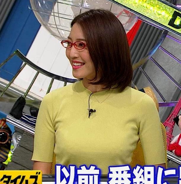 小澤陽子アナ エロい横乳キャプ・エロ画像2