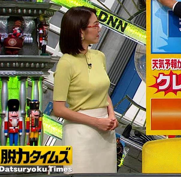 小澤陽子アナ エロい横乳キャプ・エロ画像3