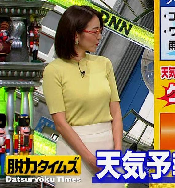 小澤陽子アナ エロい横乳キャプ・エロ画像5