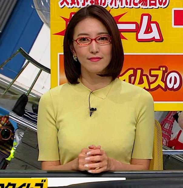 小澤陽子アナ エロい横乳キャプ・エロ画像6
