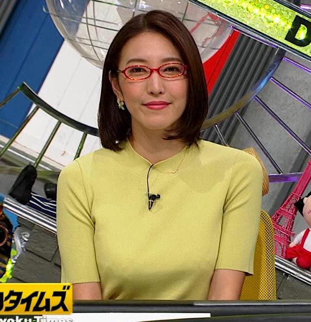 小澤陽子アナ エロい横乳キャプ・エロ画像8