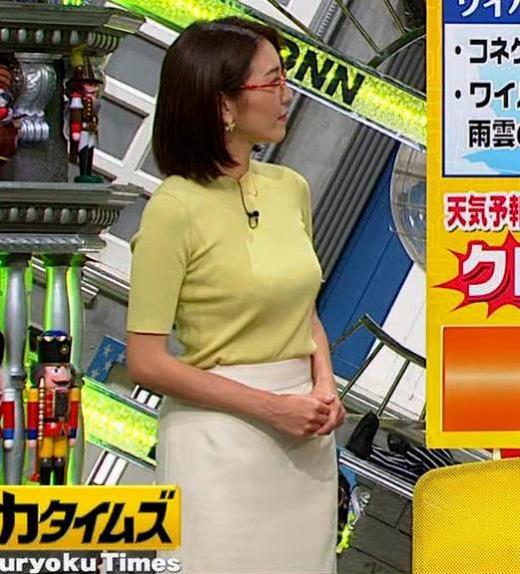 小澤陽子アナ エロい横乳キャプ画像(エロ・アイコラ画像)