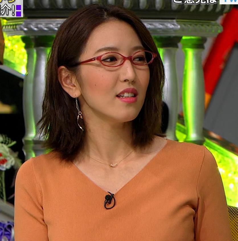 小澤陽子アナ 半袖ニットキャプ・エロ画像2