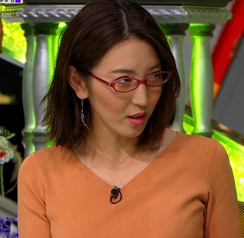 小澤陽子アナ 半袖ニットキャプ・エロ画像3