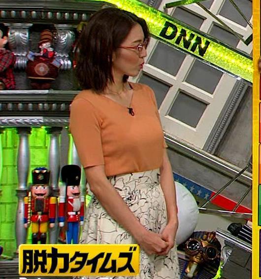 小澤陽子アナ 半袖ニットキャプ・エロ画像4