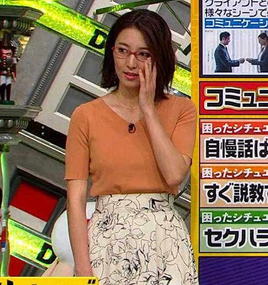 小澤陽子アナ 半袖ニットキャプ・エロ画像6