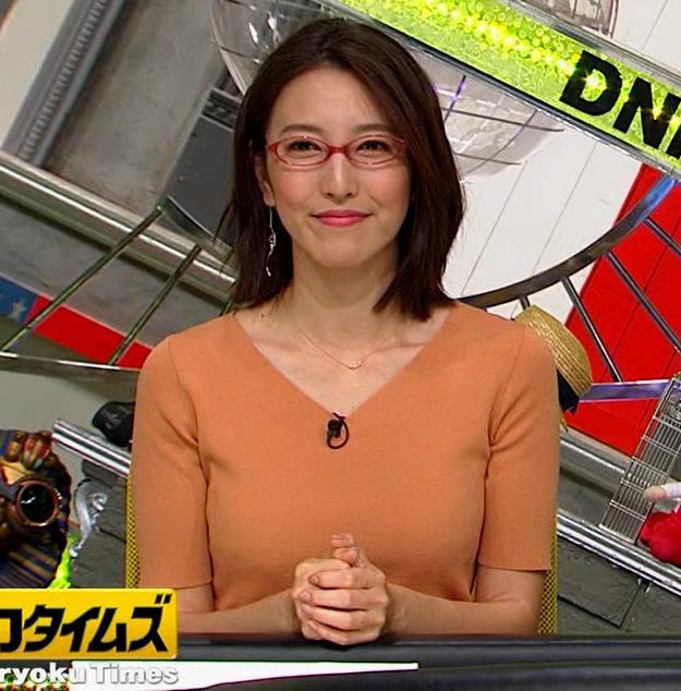 小澤陽子アナ 半袖ニットキャプ・エロ画像8