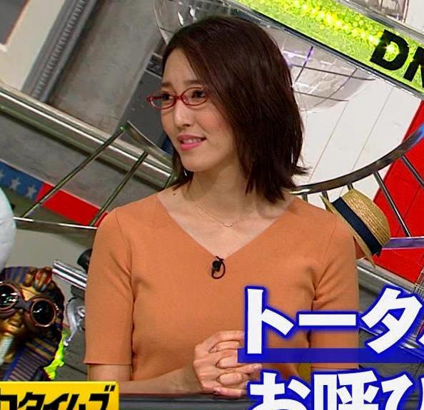 小澤陽子アナ 半袖ニットキャプ・エロ画像9