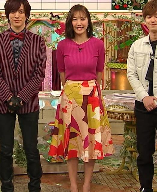 小澤陽子アナ おっぱいのデカさが際立つニットキャプ・エロ画像16