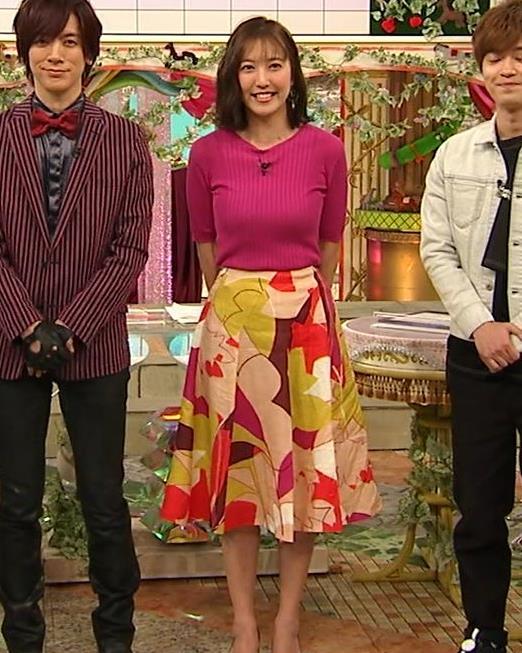小澤陽子アナ おっぱいのデカさが際立つニットキャプ・エロ画像7