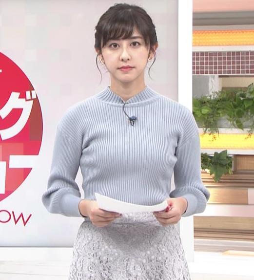 斎藤ちはるアナ ニット横乳キャプ・エロ画像