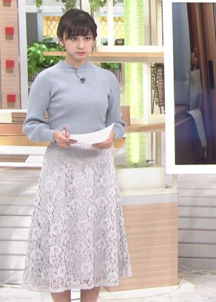 斎藤ちはるアナ ニット横乳キャプ・エロ画像4