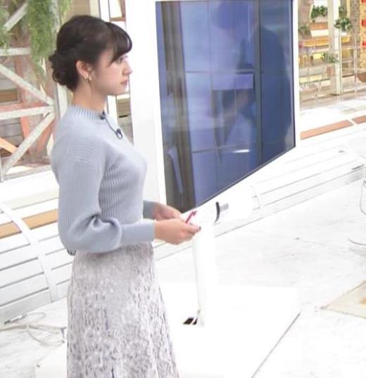 斎藤ちはるアナ ニット横乳キャプ画像(エロ・アイコラ画像)