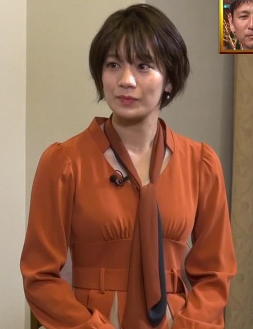 佐藤美紀 前かがみ胸チラキャプ・エロ画像9