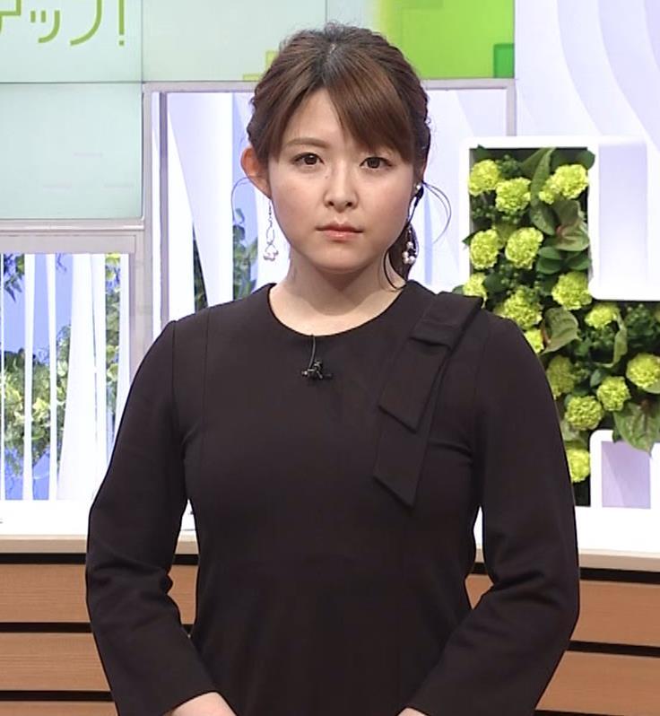 諸國沙代子アナ おっぱいパツパツ衣装(ウェークアップ!ぷらす)キャプ・エロ画像2