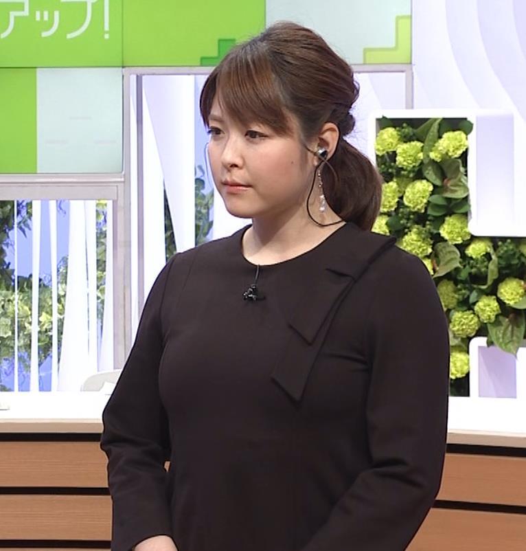 諸國沙代子アナ おっぱいパツパツ衣装(ウェークアップ!ぷらす)キャプ・エロ画像3