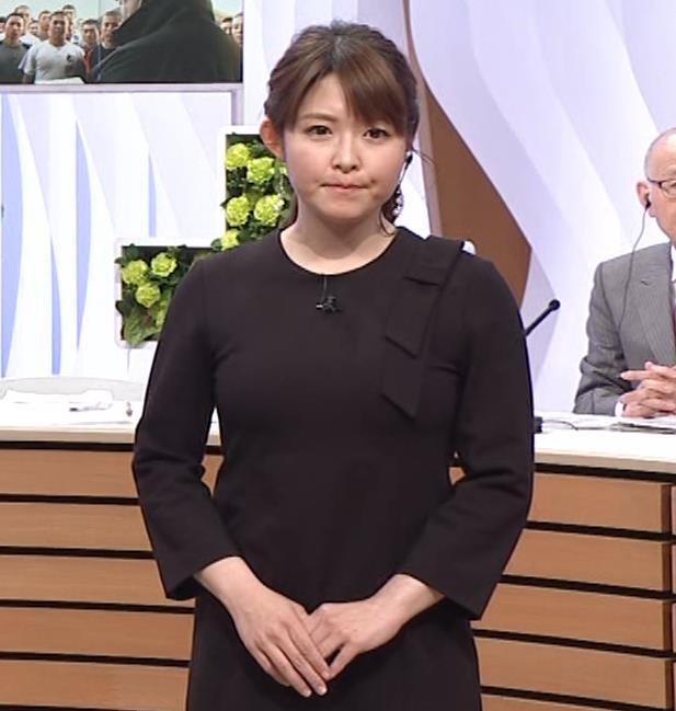 諸國沙代子アナ おっぱいパツパツ衣装(ウェークアップ!ぷらす)キャプ・エロ画像4