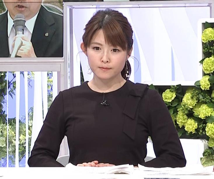 諸國沙代子アナ おっぱいパツパツ衣装(ウェークアップ!ぷらす)キャプ・エロ画像5