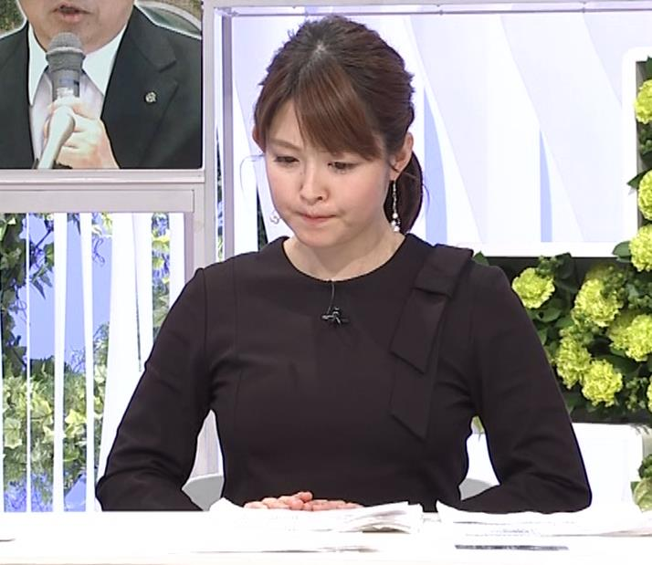 諸國沙代子アナ おっぱいパツパツ衣装(ウェークアップ!ぷらす)キャプ・エロ画像6