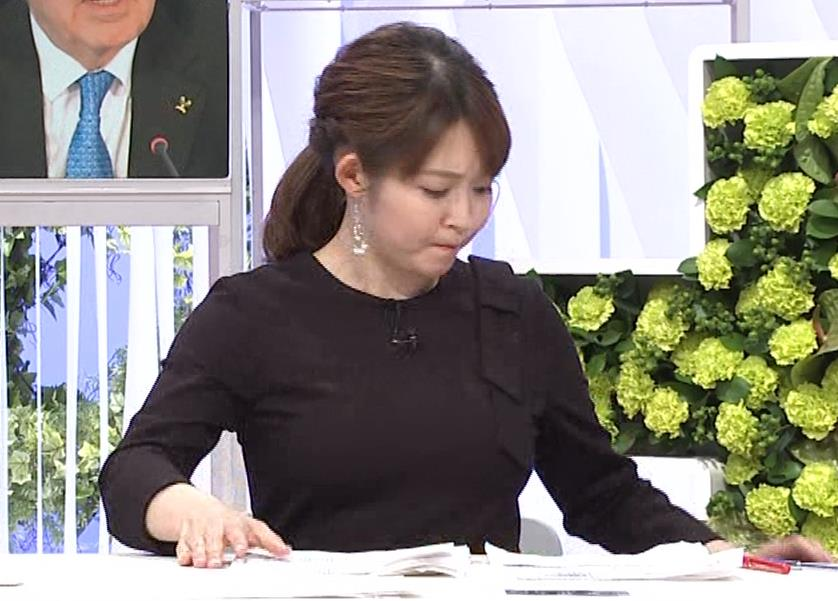 諸國沙代子アナ おっぱいパツパツ衣装(ウェークアップ!ぷらす)キャプ・エロ画像7