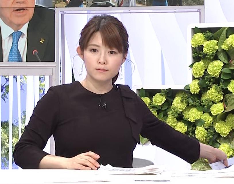 諸國沙代子アナ おっぱいパツパツ衣装(ウェークアップ!ぷらす)キャプ・エロ画像9