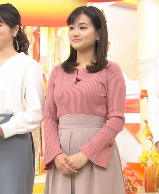 篠原梨菜アナ エッチなニットおっぱいキャプ・エロ画像3