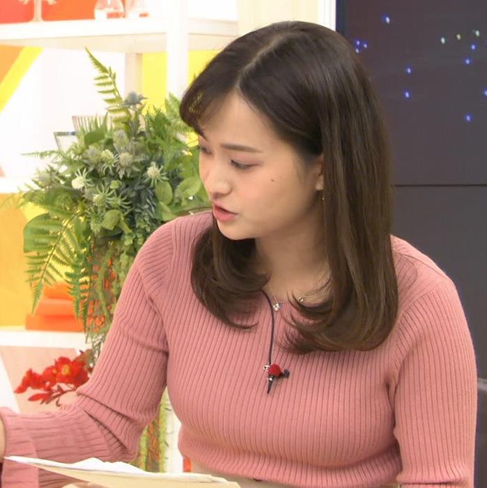 篠原梨菜アナ エッチなニットおっぱいキャプ・エロ画像4