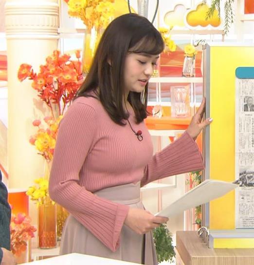 篠原梨菜アナ エッチなニットおっぱいキャプ・エロ画像8
