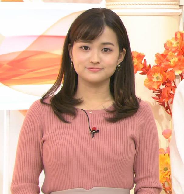 篠原梨菜アナ エッチなニットおっぱいキャプ・エロ画像9
