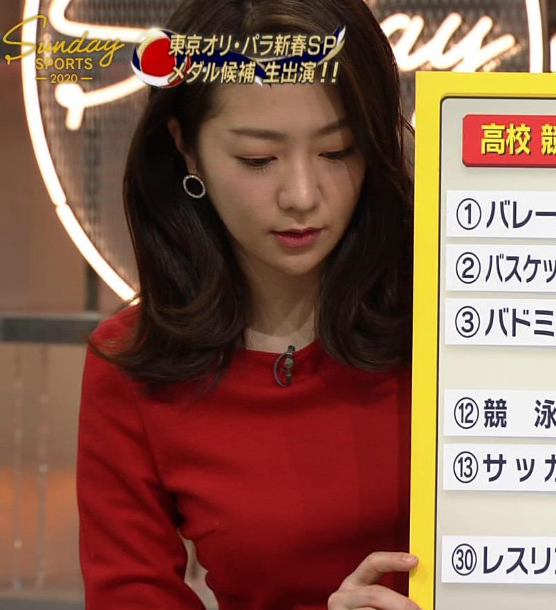 副島萌生アナ デカさが際立つ横乳キャプ・エロ画像4