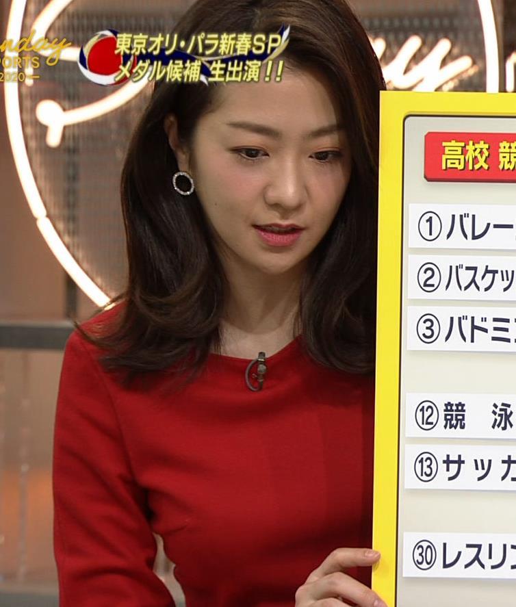 副島萌生アナ デカさが際立つ横乳キャプ・エロ画像5