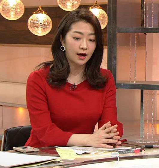 副島萌生アナ デカさが際立つ横乳キャプ・エロ画像8