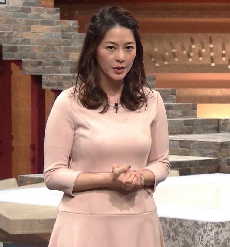 杉浦友紀アナ またエッロぃ服を着てるキャプ・エロ画像