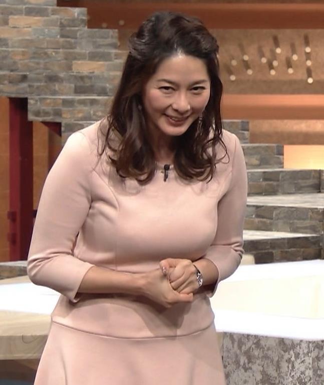 杉浦友紀アナ またエッロぃ服を着てるキャプ・エロ画像2