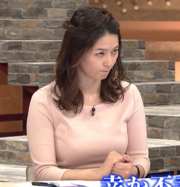 杉浦友紀アナ またエッロぃ服を着てるキャプ・エロ画像11
