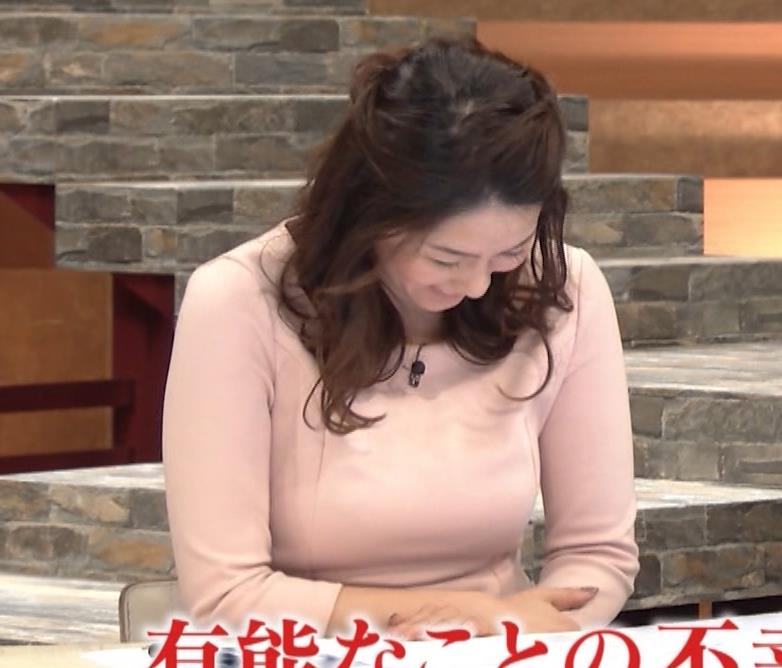杉浦友紀アナ またエッロぃ服を着てるキャプ・エロ画像12