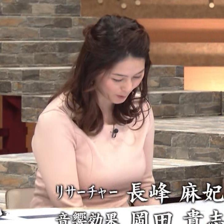 杉浦友紀アナ またエッロぃ服を着てるキャプ・エロ画像16