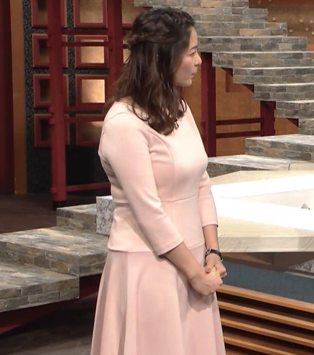 杉浦友紀アナ またエッロぃ服を着てるキャプ・エロ画像4