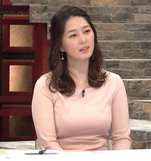 杉浦友紀アナ またエッロぃ服を着てるキャプ・エロ画像7