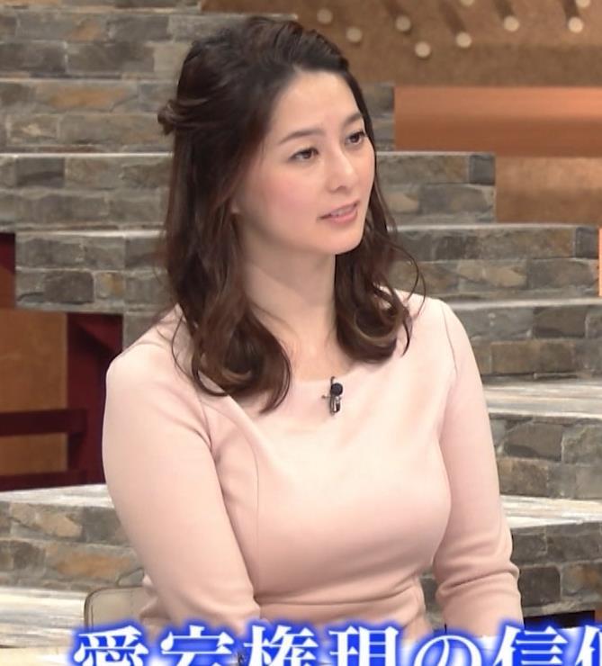 杉浦友紀アナ またエッロぃ服を着てるキャプ・エロ画像8