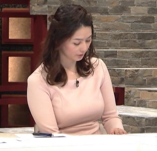 杉浦友紀アナ またエッロぃ服を着てるキャプ・エロ画像9