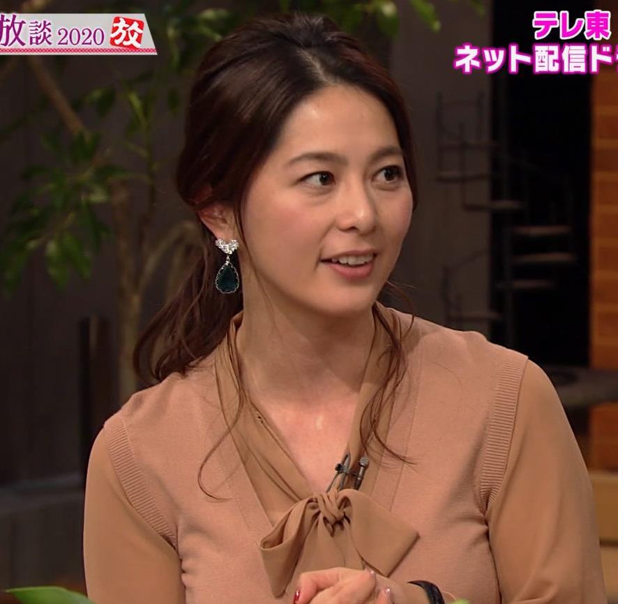 杉浦友紀アナ 遠目に見ると裸に見えるエロい色の服キャプ・エロ画像11