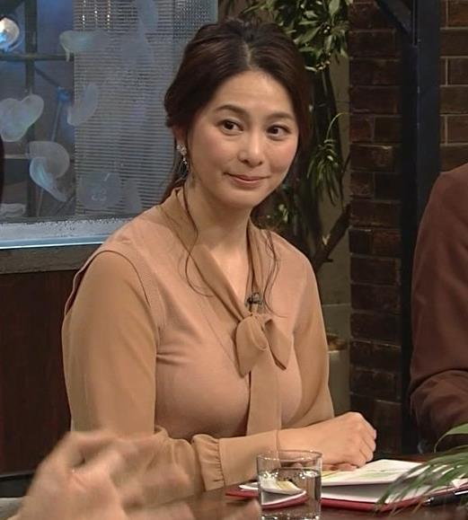 杉浦友紀アナ 遠目に見ると裸に見えるエロい色の服キャプ・エロ画像15